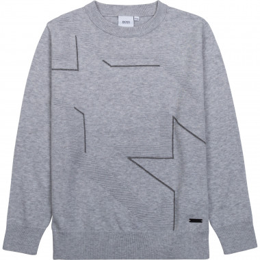 Tricot sweater with pattern BOSS for BOY