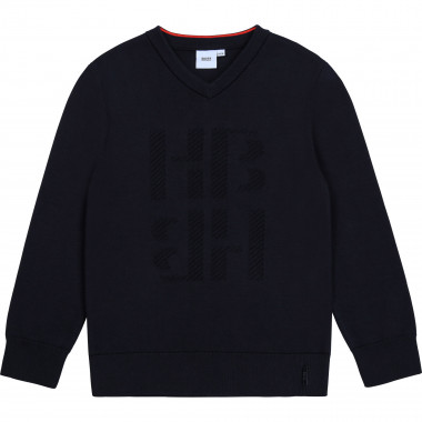 Tricot sweater with jacquard BOSS for BOY