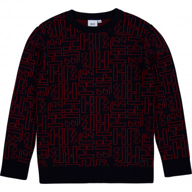 Jacquard tricot sweater BOSS for BOY