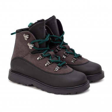 Lace-up hiking boots BOSS for BOY