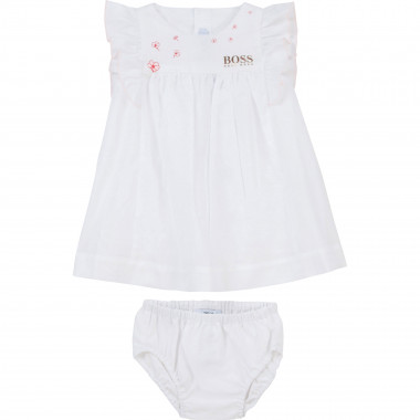 Logo dress and bloomers set BOSS for GIRL