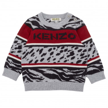knit sweater with buttons KENZO KIDS for BOY