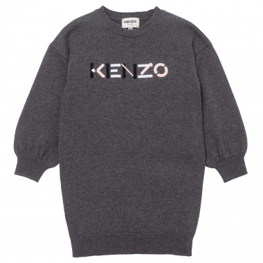 Cotton and wool sweater dress KENZO KIDS for GIRL