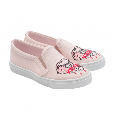 Embroidered cotton shoes KENZO KIDS for GIRL