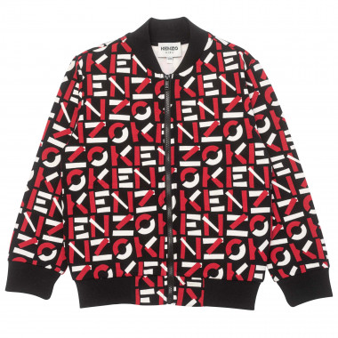 Zipped sweater with varsity-style collar KENZO KIDS for BOY