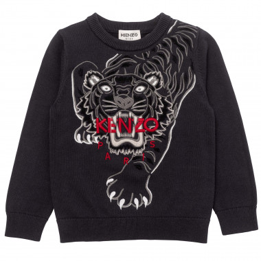 Embroidered tricot sweater KENZO KIDS for BOY