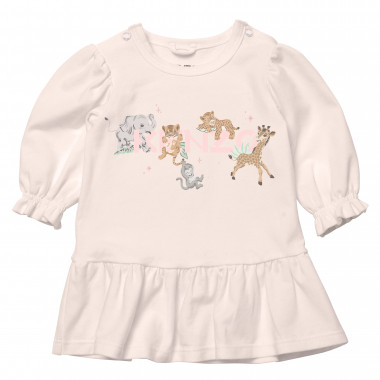 Frilled jersey dress KENZO KIDS for GIRL