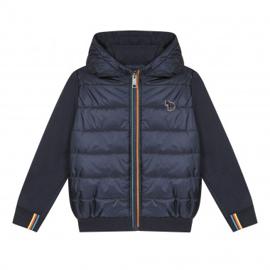 Dual-material hooded cardigan PAUL SMITH JUNIOR for BOY