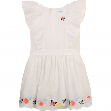 Embroidered cotton voile dress CHARABIA for GIRL