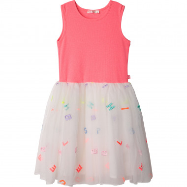 Lined dual-material dress BILLIEBLUSH for GIRL