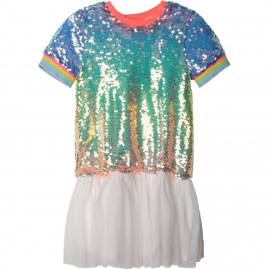 Dual-material lined dress BILLIEBLUSH for GIRL