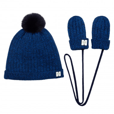 PULL ON HAT+GLOVES SET CARREMENT BEAU for BOY