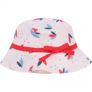Printed bucket hat with a bow CARREMENT BEAU for GIRL