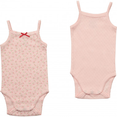 Set of 2 bodysuits with straps CARREMENT BEAU for GIRL