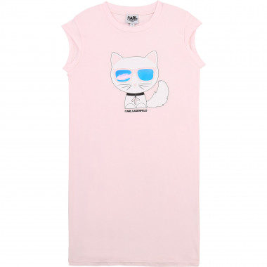 Modal and cotton jersey dress KARL LAGERFELD KIDS for GIRL