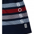Striped printed boardshorts BOSS for BOY