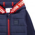 Dual-material hooded cardigan BOSS for BOY