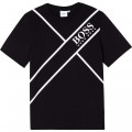 Jersey T-shirt with print BOSS for BOY