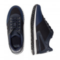 Dual-material lace-up sneakers BOSS for BOY