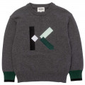 Loose embroidered sweater KENZO KIDS for BOY
