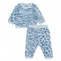 sweater and pants in cotton tricot KENZO KIDS for BOY