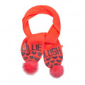 Tricot scarf with pompoms BILLIEBLUSH for GIRL