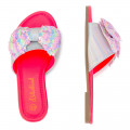 Sequin and bow sandals BILLIEBLUSH for GIRL