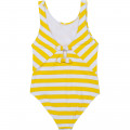 1-piece striped swimsuit CARREMENT BEAU for GIRL