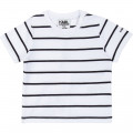 Overall and polo shirt set KARL LAGERFELD KIDS for BOY