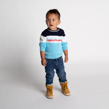 Pull tricot 100% coton TIMBERLAND pour GARCON
