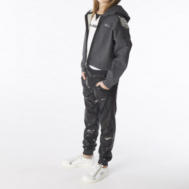 Pantalon de jogging sequins KARL LAGERFELD KIDS pour FILLE