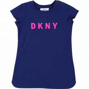 Robe manches courtes col rond DKNY pour FILLE
