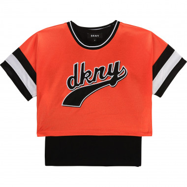 T-shirt + top jersey brillant DKNY pour FILLE