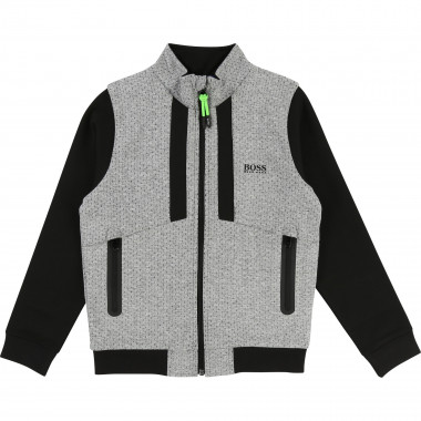 Cardigan jogging jersey tubic BOSS pour GARCON