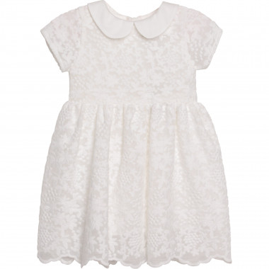 Robe manches courtes blanche CHARABIA pour FILLE