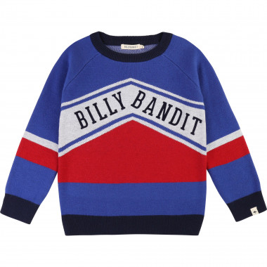 Pull tricot jacquard fantaisie BILLYBANDIT pour GARCON
