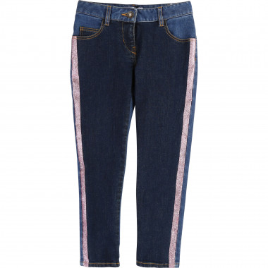 Jean slim bandes pailletées LITTLE MARC JACOBS pour FILLE
