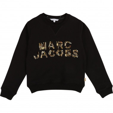 Sweat coton perles brodées LITTLE MARC JACOBS pour FILLE