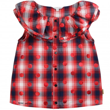 Blouse en popeline de coton LITTLE MARC JACOBS pour FILLE