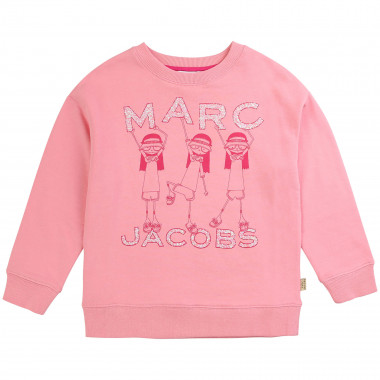 Sweatshirt molleton illustré LITTLE MARC JACOBS pour FILLE