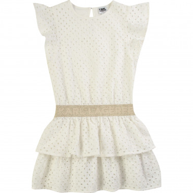 Robe en broderie anglaise KARL LAGERFELD KIDS pour FILLE
