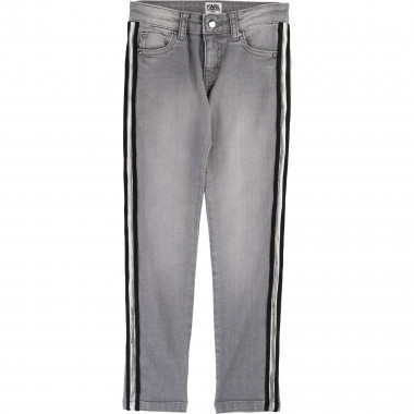 Pantalon en denim KARL LAGERFELD KIDS pour FILLE