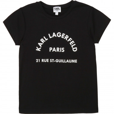 T-shirt manches courtes jersey KARL LAGERFELD KIDS pour FILLE