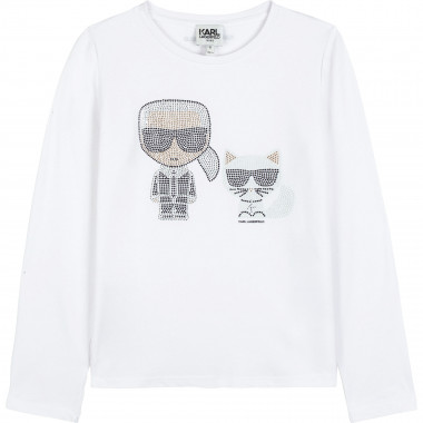 TEE-SHIRT MANCHES LONGUES KARL LAGERFELD KIDS pour FILLE