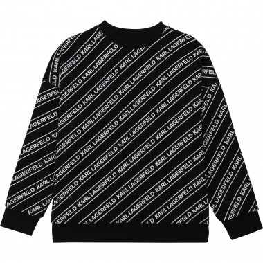 Sweat imprimé all-over KARL LAGERFELD KIDS pour GARCON