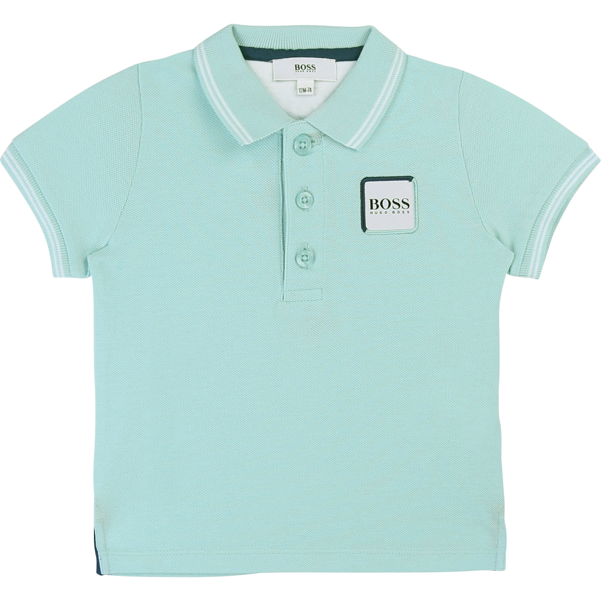 8ec2729a4 BOSS SHORT SLEEVE POLO baby blue - | Kids around