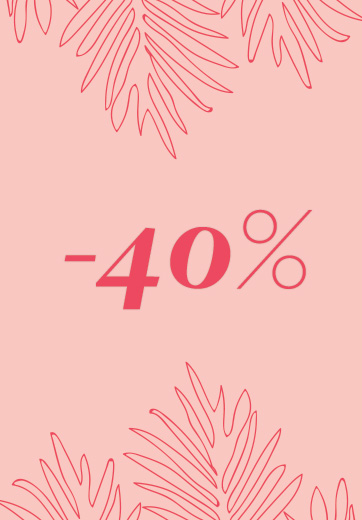 40% discount on spring-summer collection