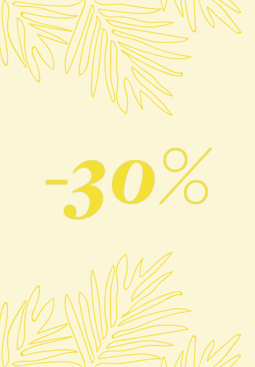 30% discount on spring-summer collection