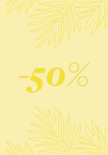 50% discount on spring-summer collection