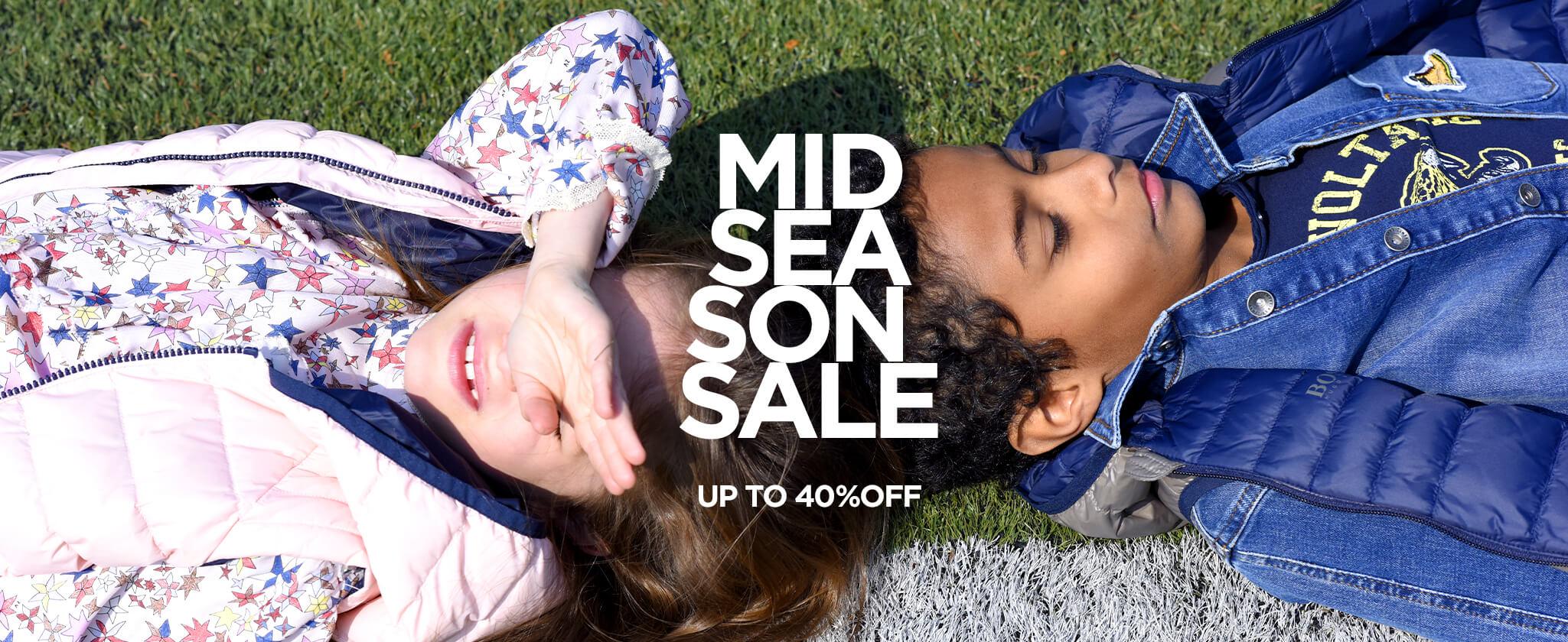 mid season sale children fashion